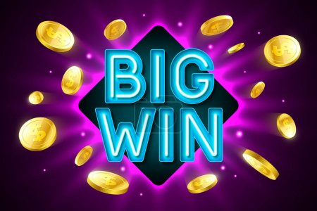 Big Win banner for lottery or casino