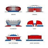Sport stadiums icons