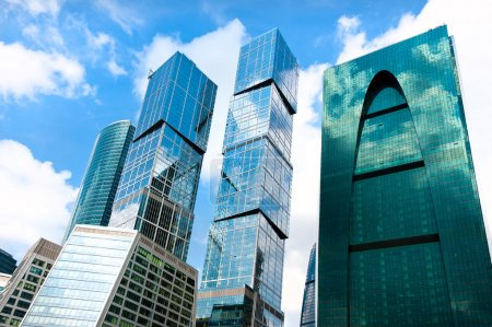 Moscow-city skycrapers business area