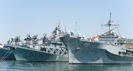 Visit of US navy 7th Fleet flagship in the russia ...