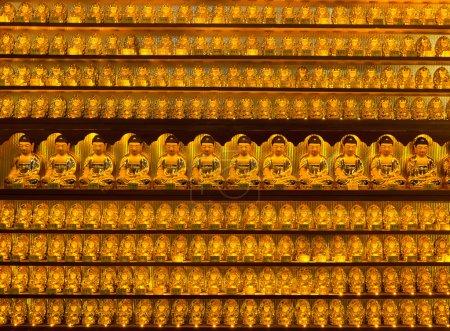 Golden buddha statues at Yakcheonsa Temple