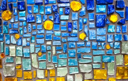 colorful glass mosaic wall