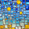 Colorful glass mosaic wall background...