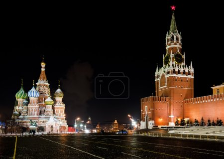 Night view of Moscow Red Square