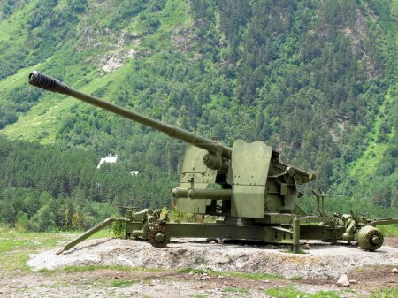 anti-avalanche cannon at Caucasus Mountains
