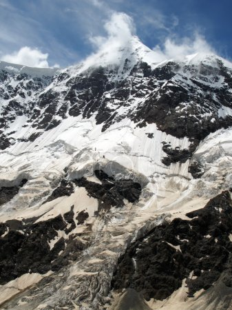 Picturesque Bezenghi mountains at Caucasus