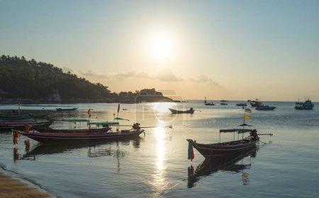 sunset sea coast view at Koh Tao island , Samui, Thailand
