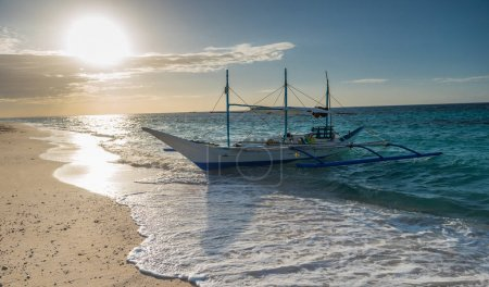 traditional filipino asian ferry taxi tour boats on puka beach i