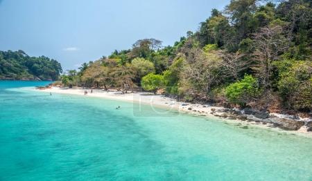 white beach of the Koh Rang Isle of Ko Rang National Park, Koh C