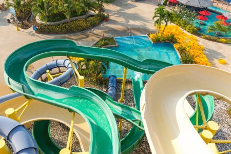 Water park at Phuket island Thailand
