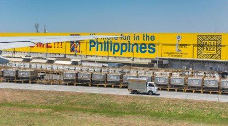 MANILA, PHILIPPINES - 7TH MARCH, 2016: Duty Free warehouse of Ninoy Aquino Airport (NAIA) in Manila Philippines. NAIA main intl gateway for travelers to Philippines