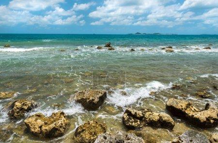 Seascape View of rocky beach at Koh Samui Thailand