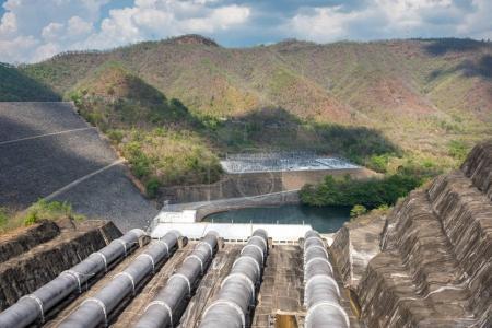 Srinagarindra Dam on Khwae Yai River Thailand