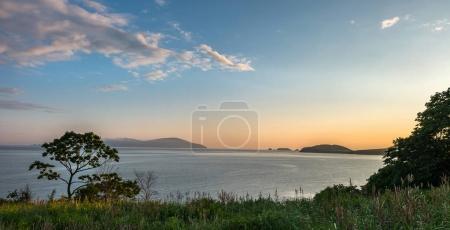 sunset view of russian isle Putyatin