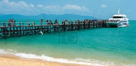 KO SAMUI, THAILAND - FEBRUARY 27: Lomprayah high speed catamaran