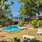 Beautiful swimming pool in tropical resort at Coro...