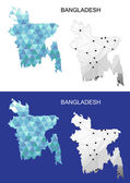 Bangladesh map in geometric polygonal style Abstract gems triangle