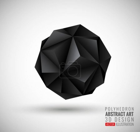 Illustration for Vector illustration with the image of abstract stars, 3D polyhedron. Abstract explosion. Design element, abstract background for your project. Other variations and colors you can find in my portfolio. - Royalty Free Image