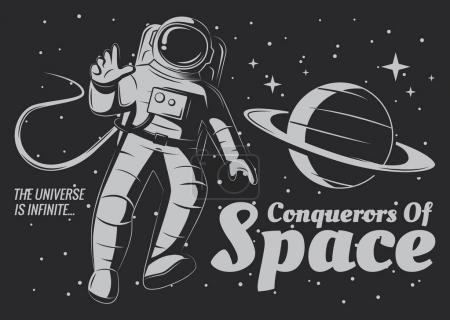 Vector astronaut Illustration