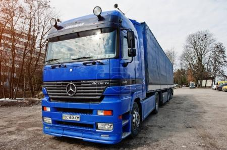 Kiev, Ukraine - March 22, 2017: Mercedes-Benz Actros, heavy duty