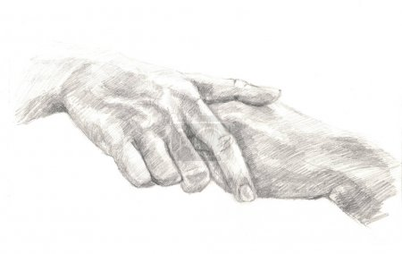 Sketch of a man hands