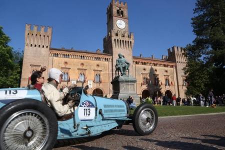 Old Bugatti during Mille Miglia