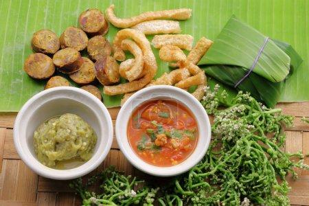 Northern Thai Cuisine, chili sauces.