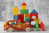 Hračka bloky City, Baby domu stavební cihly, děti dřevěné krychlových o