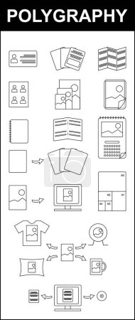 Polygraphy, Printing flat icons