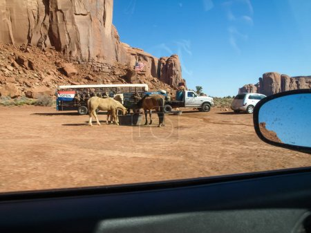 The infrastructure for tourists near Monument Valley. Landscape