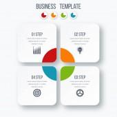 Možnosti šablony čtyři infografiku s náměstí