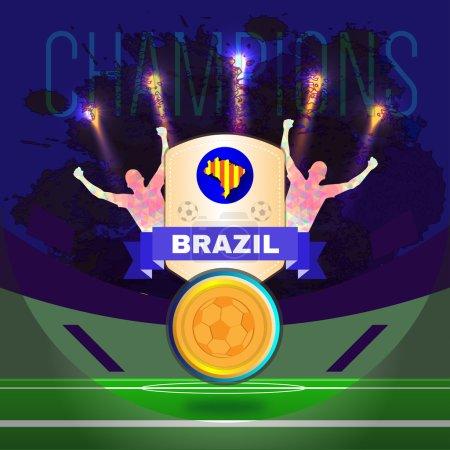 Digital vector, football and soccer brazil