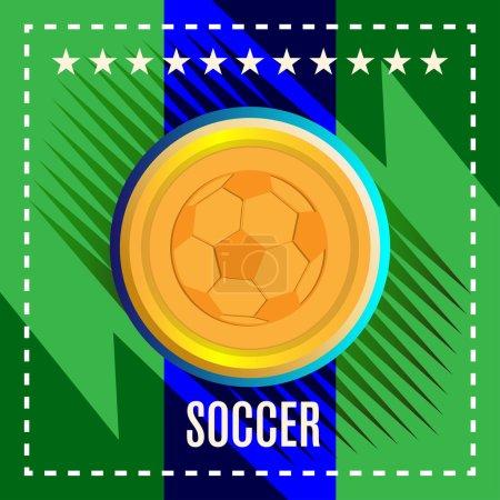 Digital vector, football and soccer ball
