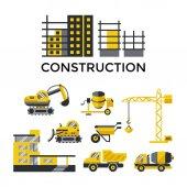 Digital vector construction building tracks