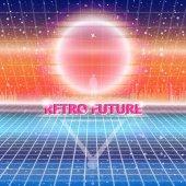 80s Retro Sci-Fi Background futuristic world
