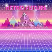 Retro future 80s style Sci-Fi Background Retro wave