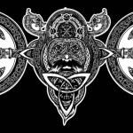 Viking tattoo, Celtic style. North warrior head t-...