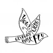 Your wings already exist. Fly. Inspirational quote