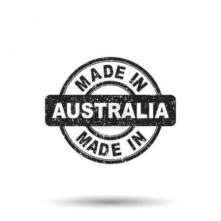 Made in Australia stamp. Vector illustration on white background