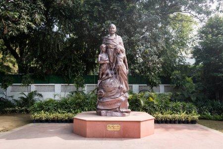 The statue of Mahatma Gandhi