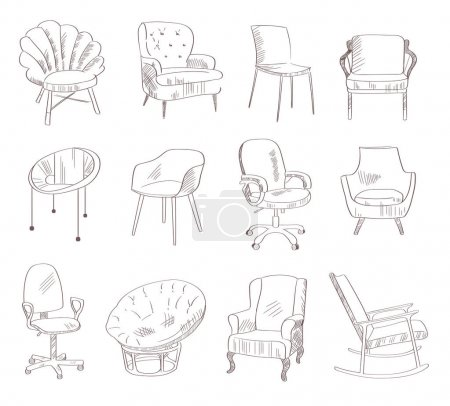 Set with chairs  illustration