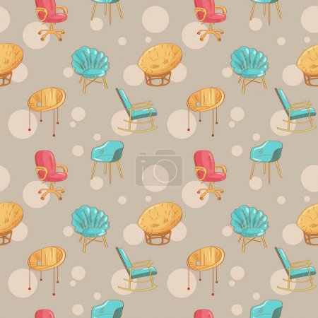 Seamless pattern with chairs.