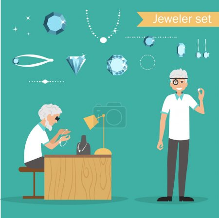 Cartoon jeweler profession
