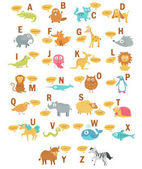 Children's alphabet with animals