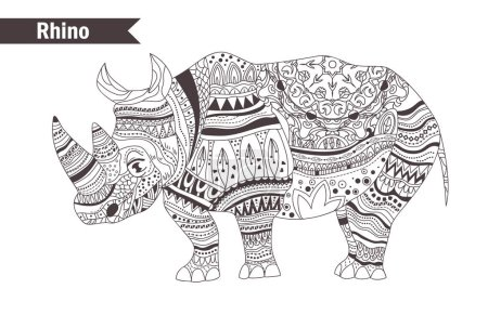 Zentangle style. Hand drawn vector isolated illust...