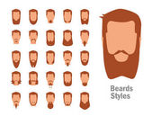 Set with various types of beards.