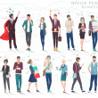 Modern vector illustration / Set of business peopl...