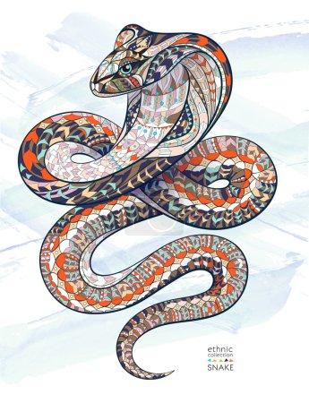Patterned snake cobra poster