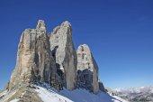 Three peaks in Dolomites