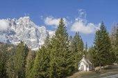 Mountain chapel in Dolomites